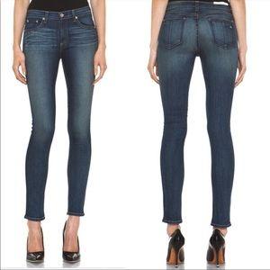 Rag & Bone Stratham Blue Denim Skinny Jeans